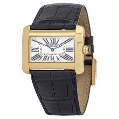 Cartier Tank Divan 2602, Silver Dial, Certified and Warranty