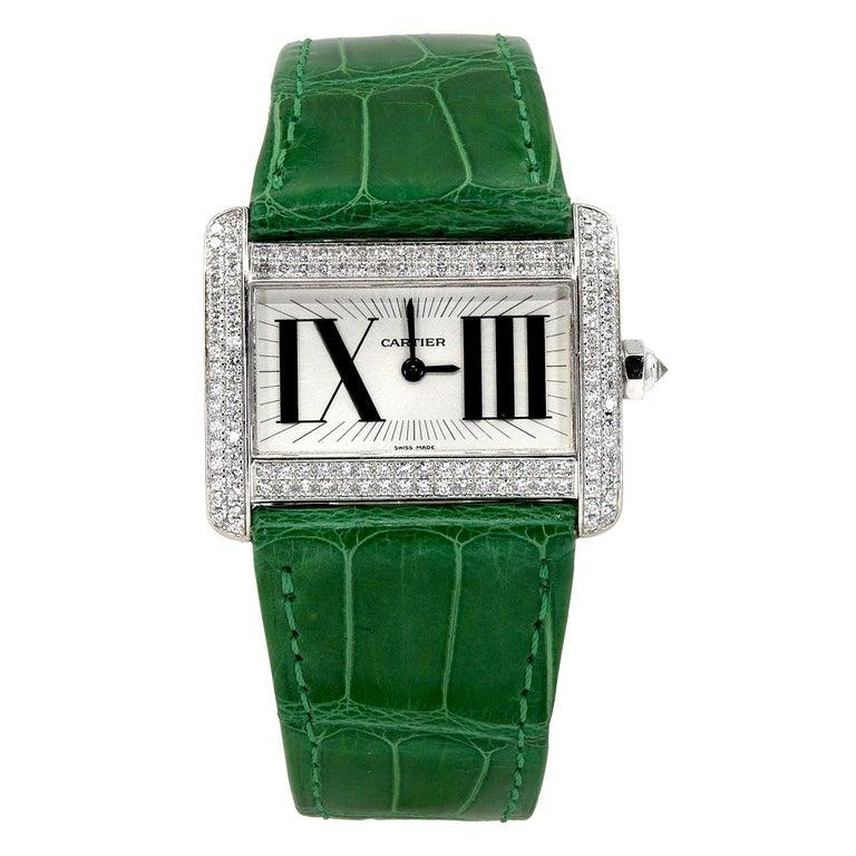Cartier Tank Divan Mini Diamond Watch For Sale