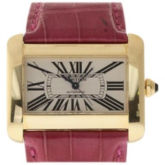 Cartier Tank Divan W6300856, Black Dial, Certified and Warranty