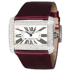 Cartier Tank Divan WA301370 Women's Watch in 18 Karat White Gold