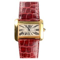 Cartier Tank Divan XL Ref. 2602 18 Carat Yellow Gold Watch