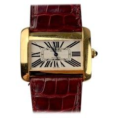 Cartier Tank Divan XL Ref. 2602 18 Karat Yellow Gold Watch
