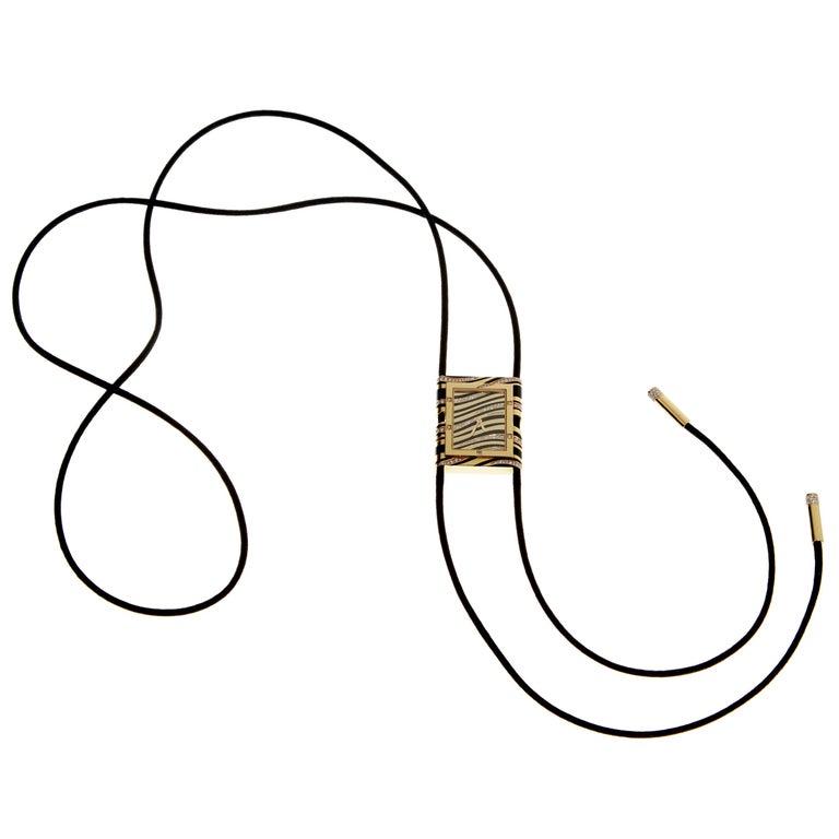 Cartier Tank enamel and diamond sautoir necklace, 1990s