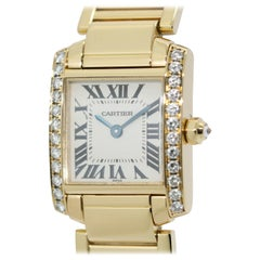 Cartier Tank Francaise 18 Karat Gold Ladies Wrist Watch with Diamonds. Ref. 2364