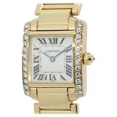 Cartier Tank Francaise 18 Karat Gold Ladies Wrist Watch with Diamonds. Ref. 2364