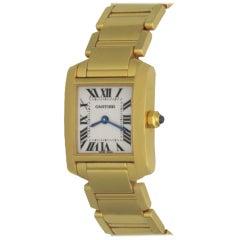 Cartier Tank Française 18 Karat Gold Model W50002N2 Watch