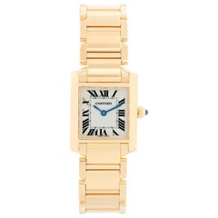Cartier Tank Francaise 18 Karat Yellow Gold Ladies Watch