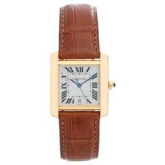 Cartier Tank Francaise 18 Karat Yellow Gold Men's Watch