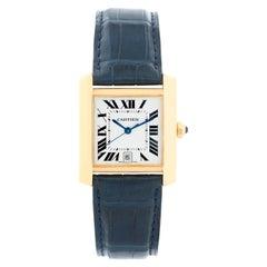 Cartier Tank Francaise 18 Karat Yellow Gold Men's Watch W5000156