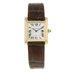 Cartier Tank Francaise 1821 18 Karat Yellow Gold Quartz Ladies Watch