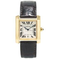 Cartier Tank Francaise 1840 18 Karat Yellow Gold Automatic Men's Watch