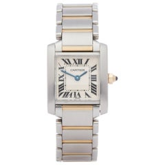 Cartier Tank Francaise 2300 Ladies Stainless Steel and Yellow Gold Watch