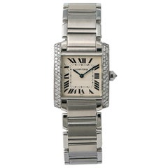 Cartier Tank Francaise 2301, Beige Dial, Certified and Warranty