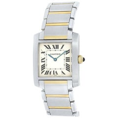 Cartier Tank Francaise 2301, White Dial, Certified and Warranty