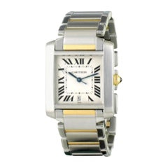 Cartier Tank Francaise 2302, White Dial, Certified and Warranty