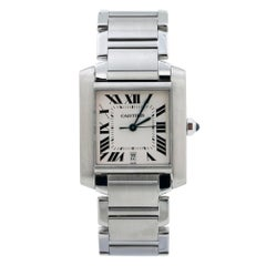 Cartier Tank Francaise 2302 Automatic Stainless-Steel Mens Watch