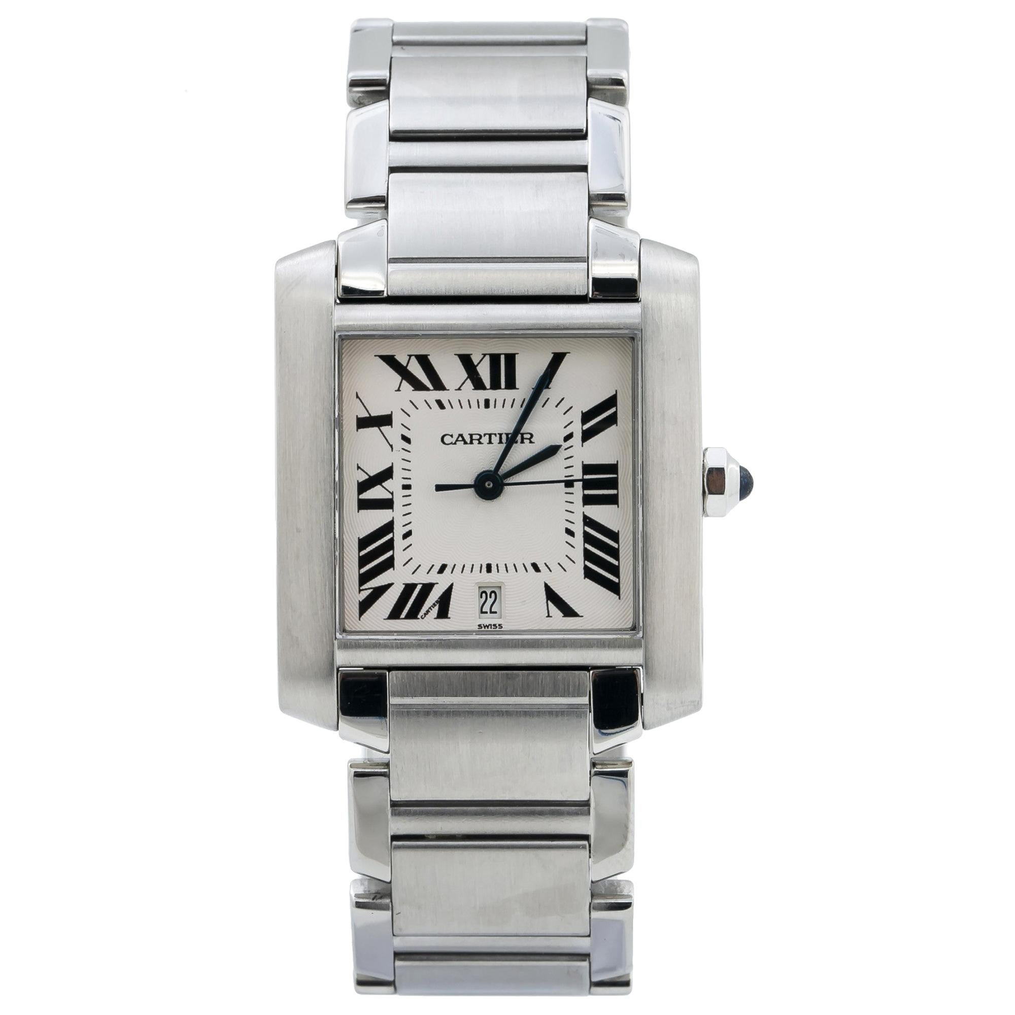 Cartier Tank Francaise 2302 Automatic Stainless-Steel Men's Watch