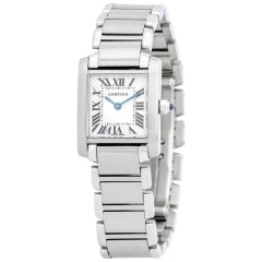 Cartier Tank Francaise 2302, Blue Dial, Certified and Warranty