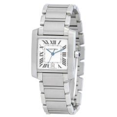 Cartier Tank Francaise 2302, Case, Certified and Warranty