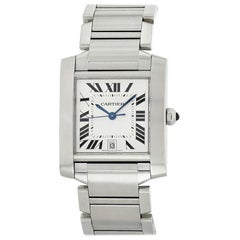 Cartier Tank Francaise 2302, Certified and Warranty