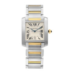 Cartier Tank Francaise 2302 Two-Tone Silver Dial Automatic Men's Watch W51005Q4