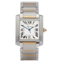 Cartier Tank Francaise 2302 Unisex Stainless Steel Watch