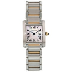 Cartier Tank Francaise 2384 Mother of Pearl Dial Ladies Watch
