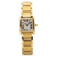 Cartier Tank Francaise 2385 W50002N2 18K Yellow Gold Ladies Quartz Watch