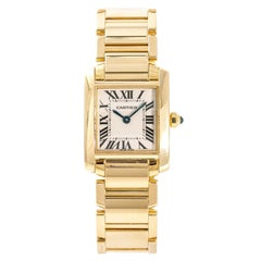 Cartier Tank Francaise 2385 W520065 Womens Quartz Watch 18k Gold Box&Papers 20mm