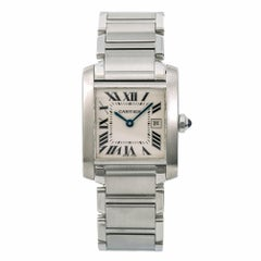 Cartier Tank Francaise 2465 W51011Q3 Women's Quartz Watch Cream Dial SS