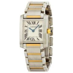 Cartier Tank Francaise 2878, White Dial, Certified and Warranty