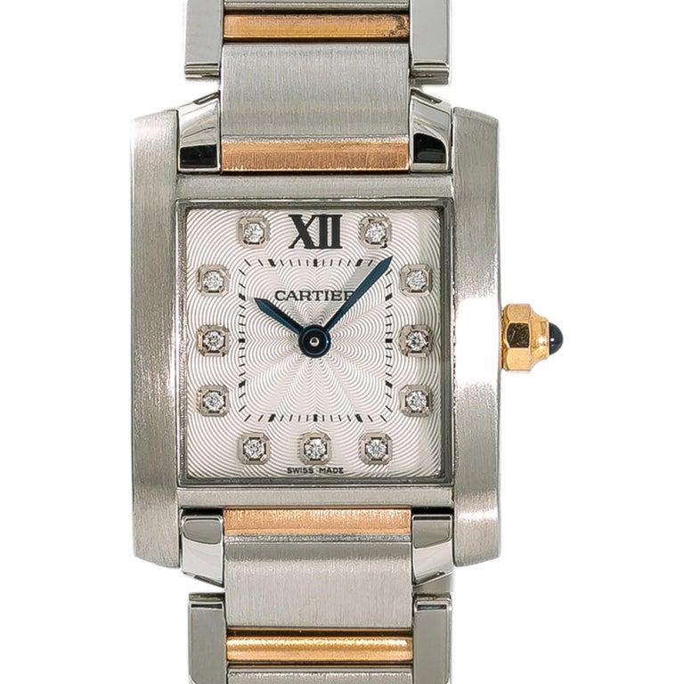 new concept 2ccdd bda40 Cartier Tank Francaise 3217 WE110004 Women's Quartz Watch 18 Karat Two-Tone  SS