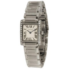 Cartier Tank Francaise Aftermarket Diamond Bezel Watch 2384
