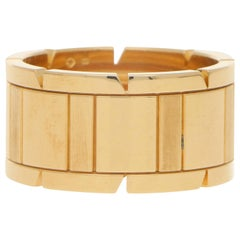 Cartier Tank Francaise Band Ring Set in Solid 18 Karat Yellow Gold