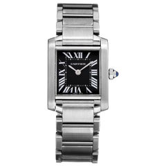 Cartier Tank Francaise Black Dial Watch 2384
