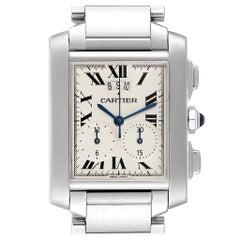 Cartier Tank Francaise Chrongraph Steel Men's Watch W51024Q3 Box