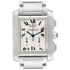 Cartier Tank Francaise Chrongraph Steel Men's Watch W51024Q3