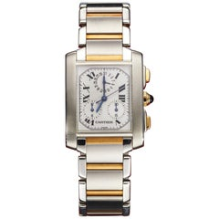 Cartier Tank Francaise Chrono-Reflex Steel and Gold