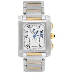 Cartier Tank Francaise Chronoflex 2303 Men's Quartz Watch 18 Karat Two-Tone