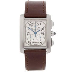 Cartier Tank Francaise Chronoflex Stainless Steel Men's 2303 or W51001Q3