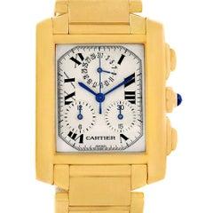 Cartier Tank Francaise Chronograph Yellow Gold Quartz Watch W50005R2