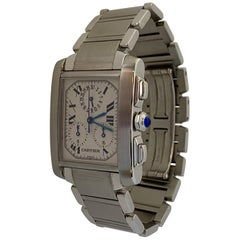 Cartier Tank Francaise Chronoreflex Steel Watch Quartz W51001Q3 2303