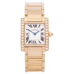 Cartier Tank Francaise Diamond 18 Karat Yellow Gold 2385 Wristwatch