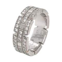 Cartier Tank Francaise Diamond Ring in White Gold