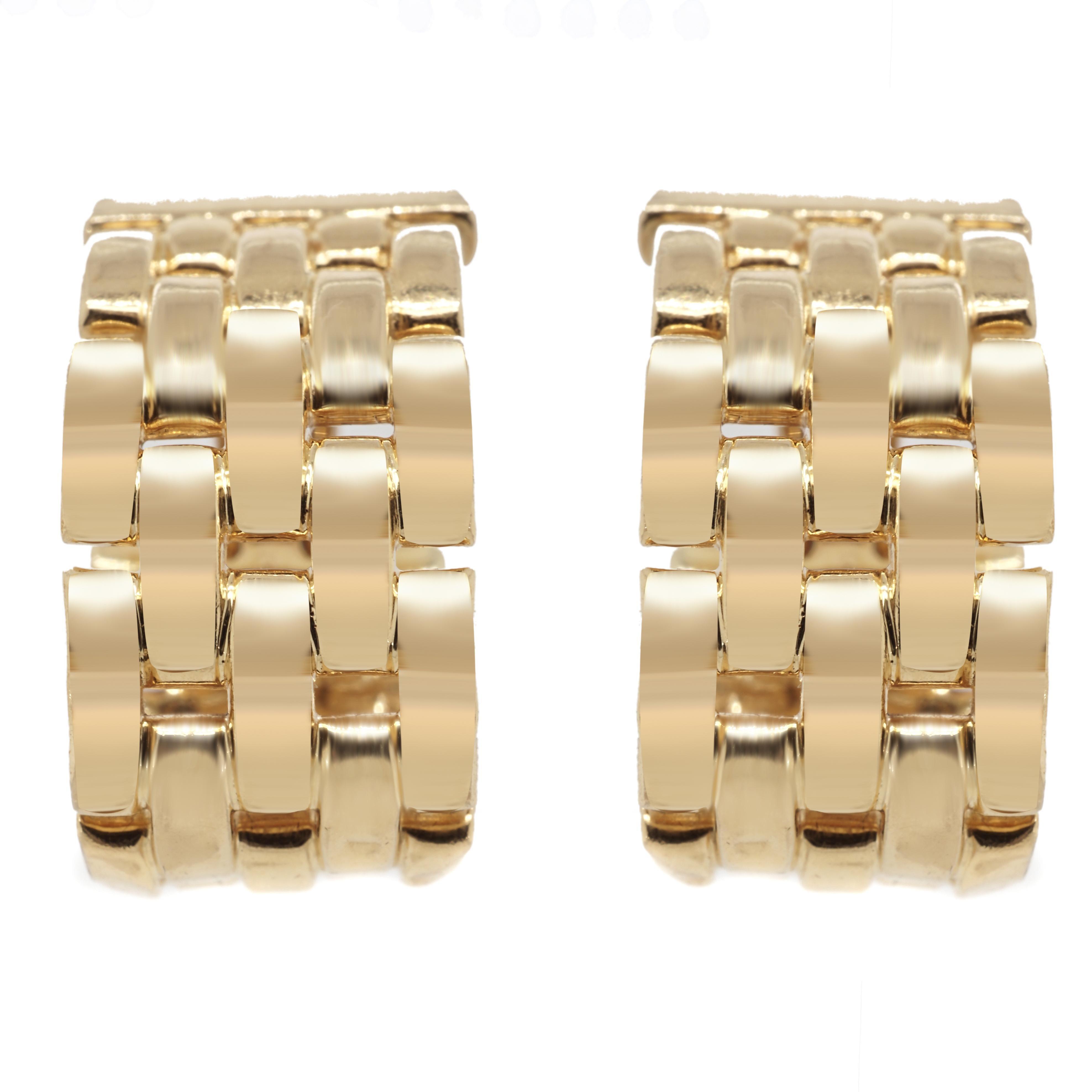 Cartier Tank Francaise Hoop Clip-On Earrings