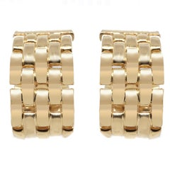 Cartier Tank Francaise Hoop Clip-On Earrings
