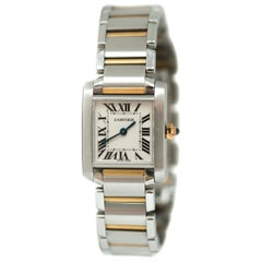 Cartier Tank Française Ladies 18 Karat Gold Two-Tone Wristwatch
