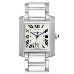 Cartier Tank Francaise Large 18 Karat White Gold Unisex Watch W50011S3