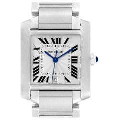 Cartier Tank Francaise Large Steel Automatic Men's Watch W51002Q3