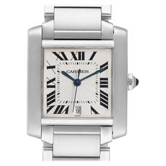 Cartier Tank Francaise Large Steel Automatic Men's Watch W51002Q3